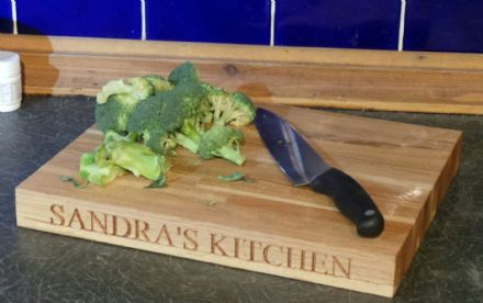 Engraved Chopping Board  335 x 210 x 40mm